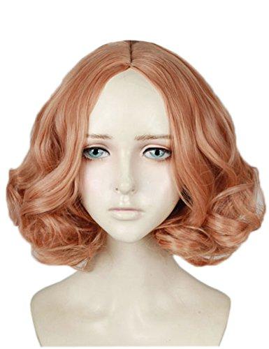 Haru Okumura Noir Cosplay wig Xcoser Persona 5 Orange Short Curly Hair Women