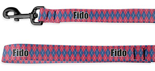 RNK Shops Buoy & Argyle Print Deluxe Dog Leash - 4 ft (Personalized)