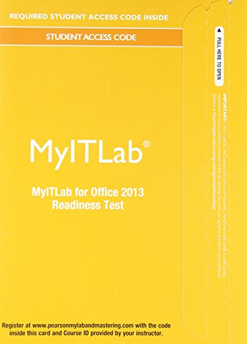 MyLab IT without Pearson eText -- Access Card -- for Office 2013 [Readiness Testing]