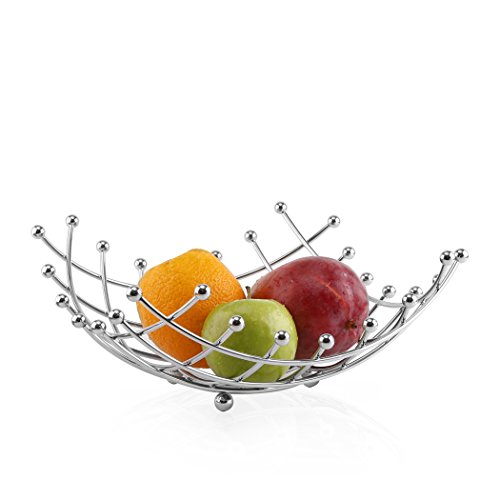 BINO 'Square Grid' Fruit Basket, Chrome