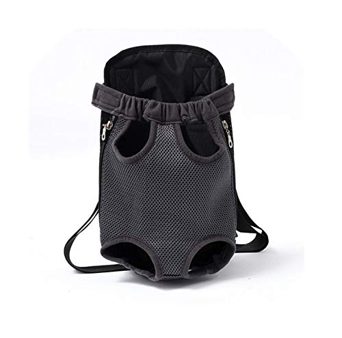 Bagless Valve - Pet Dog Carrier Backpack Mesh Camouflage Outdoor Travel Products Breathable Shoulder Handle Bags for Small Dog Cats Chihuahua,Gray,S