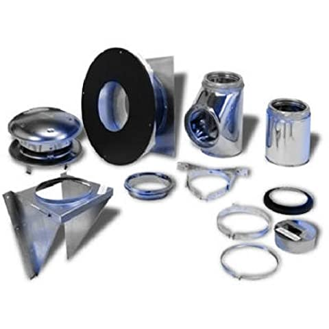Selkirk Metalbestos 208622 8-Inch Complete Stove Thru Wall Kit (Stove Pipe Through Wall)