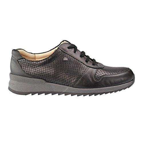 FINNCOMFORT cordones Negro Sidonia de para negro de mujer Negro Zapatos Piel SxgwrSq