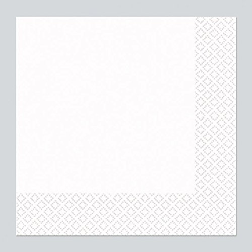 Amscan 40 cm 2 Plis Serviettes de Table en, Blanc Hivernal 52220-08