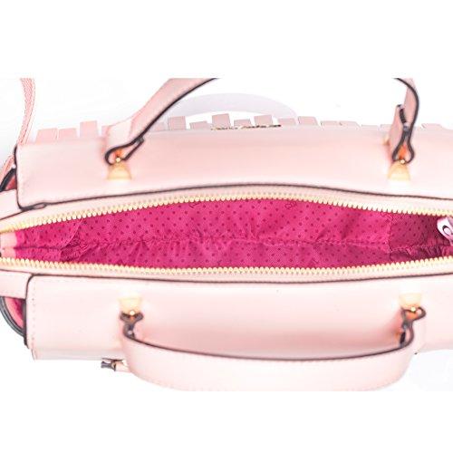 Barbie Bolso bandolera y baguette elegante de estilo chicas bolso casual para mujer BBFB559 30x20x13CM Rosa