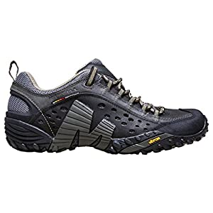 Merrell Men's INTERCEPT Walking Shoe, Black, US12.5