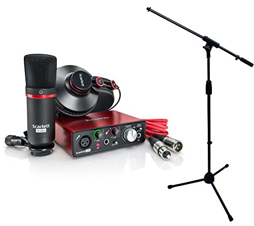 Focusrite Scarlett Solo Studio 2ND GENERATION 2 in / 2 out USB 2.0 Recording Interface w/ Mic Stand