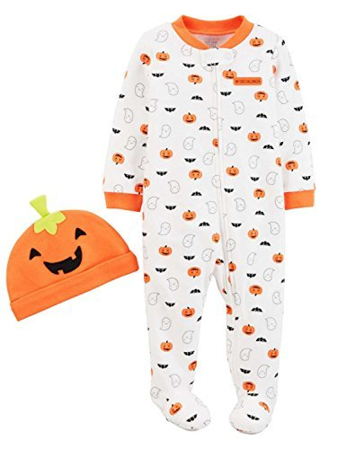 Just One You by Carter's Baby Pumpkin Sleep N' Play and Hat Set (3 -