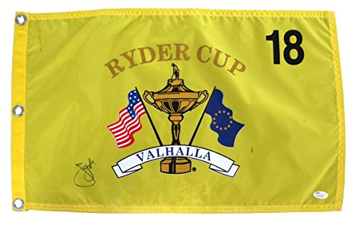 (Jim Furyk Signed Autographed Ryder Cup Valhalla Golf Pin Flag JSA COA)