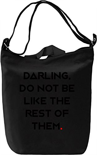 Darling, be different Borsa Giornaliera Canvas Canvas Day Bag| 100% Premium Cotton Canvas| DTG Printing|