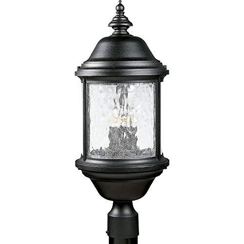 Progress Lighting P5450-31 3-Light Ashmore Post Lantern, Textured Black 33 Cobblestone Finish Pendants