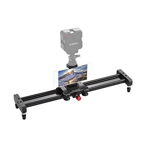 Andoer 40cm/15.7inch Aluminum Alloy Camera Video Slider Trac