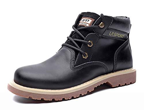 Stringate Autunno Inverno Stivali Tonda Boots Punta Lavoro Mens Martin 2018 Da Black All'aperto 43EU qBxp4w0t