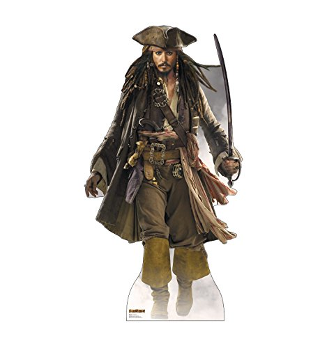Advanced Graphics Captain Jack Sparrow Life Size Cardboard Cutout Standup - Disney's Pirates of the Caribbean -