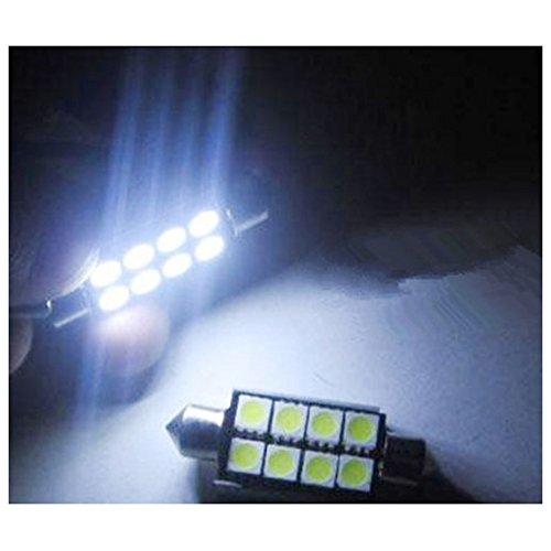TOOGOO 1x Festoon CANBUS C5W SV8 2835 Light Bulb White 36mm