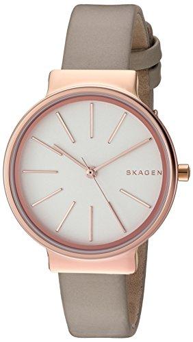 Skagen Women's SKW2481 Ancher Beige Leather Watch (Beige Leather Watch)
