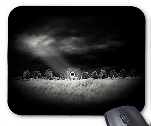 Xueyu Mousepad In A Beam Of Light Through Black Clouds On The Forest Hut Mouse Mat Pack of - Lights Pads Adirondack