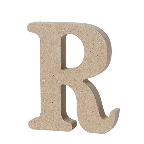 WINOMO DIY Wooden Alphabet Letters Plaque Wall Numbers Home Wedding Party Decoration-R