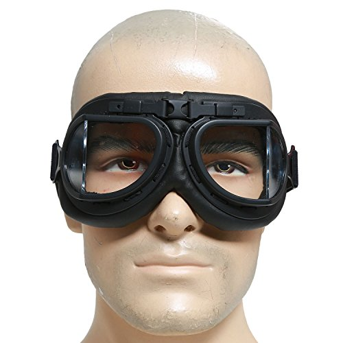 Mad-Max Nux Goggles Vintage Anti-dust Motorcycle Glasses Adjustable Strap -