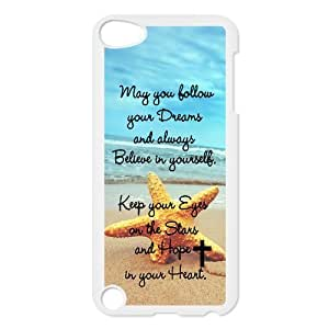 Proverb Bible Verse Starfish Protective Hard PC Back Fits Cover Case for iPod Touch 5, 5G (5th Generation)
