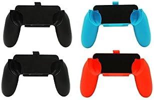 KEESIN 10 en 1 Nintendo Switch Juegos de kits de accesorios, 4x Joy Con Grips Handle y 4x Joy-Con Steering Wheel para Joy-Con Controller 1x Charging Dock Stand con 1x Type C