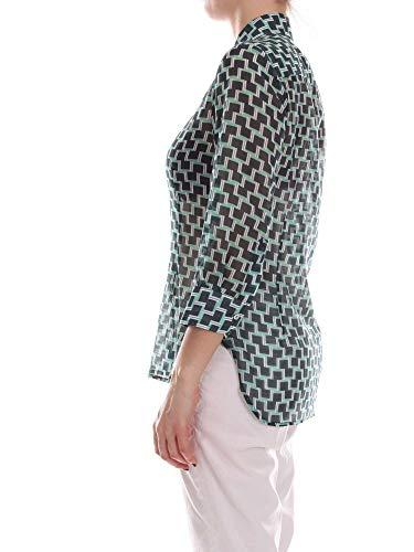 1666w34green Coton Chemise Femme Vert Barba xwzqp8RS