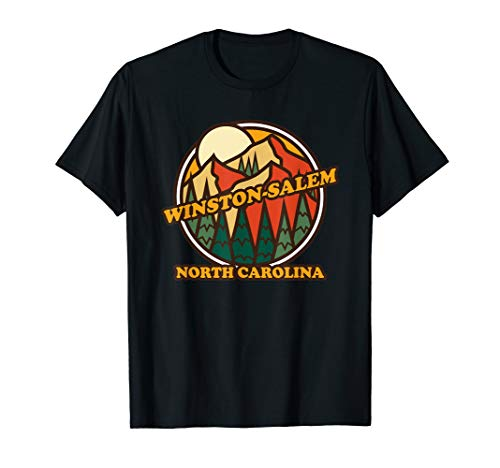 Vintage Winston-Salem North Carolina Mountain Hiking T-Shirt (Home Winston Salem Children's Christmas)