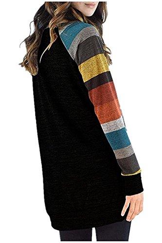 Maglietta Invernale maniche Kinikiss Camicetta donna e Oversize Casual di Colore diverse Sportiva Shirt Felpa Camicia donne dimensioni lunghe T Maglia 4n4qtPX