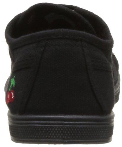 Le Temps des Cerises - Zapatillas de tela para mujer Negro (Schwarz)