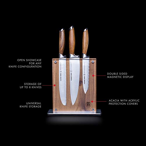 Schmidt Brothers - Acacia Midtown Magnetic Knife Block, Universal Cutlery Storage For 8 - 10, Acacia Hardwood and Acrylic Shield by THE SCHMIDT BROTHERS (Image #1)