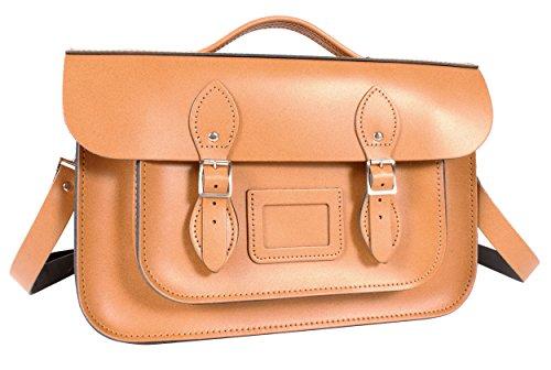 Oxbridge Satchel's - Bolso estilo cartera de Piel para mujer Naranja Autumn Tan