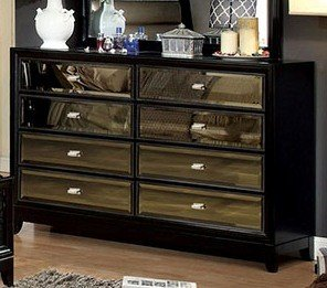 Amazon.com: Golva Contemporary Style Black Finish Bedroom Dresser ...