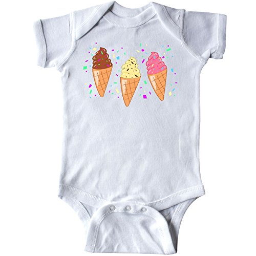 inktastic - Ice Cream Trio with Sprinkles Infant Creeper 24 Months White ()