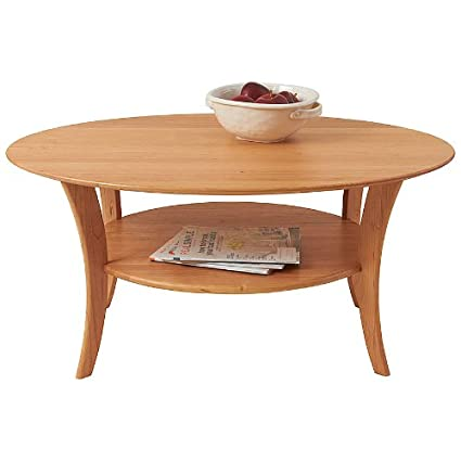 Manchester Wood Oval Cherry Coffee Table   Natural Cherry