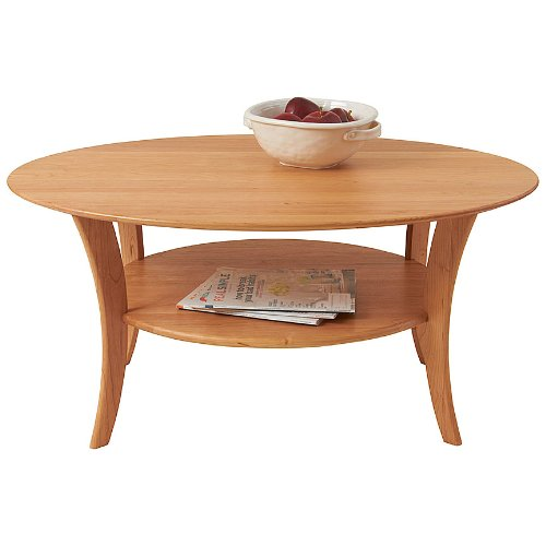 Manchester Wood Oval Cherry Coffee Table - Natural Cherry (Natural Table Oval Wood)