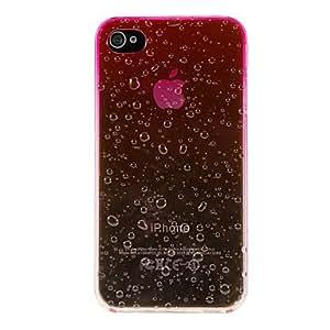 TY- Rain Drops Romantic caso del patrón de la PC dura para el iPhone 4/4S (colores surtidos) , Rose