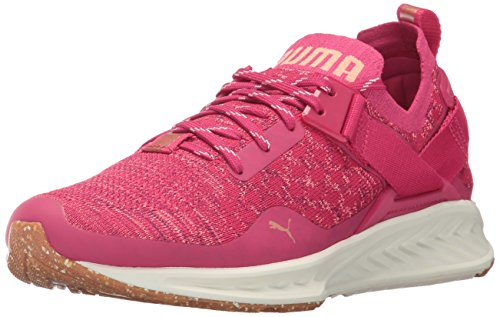 PUMA Women's Ignite Evoknit Lo vr Wn Sneaker, Love Potion-Nrgy Peach-Dark Purple, 5.5 M US by PUMA