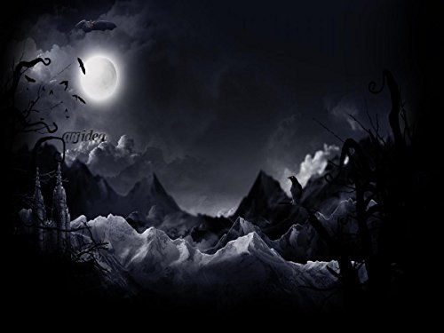 Gifts Delight Laminated 19x14 Poster: Halloween Art - Halloween Full Moon hd s Images pics for PC Mobile Funny Halloween Day 2017 ES -