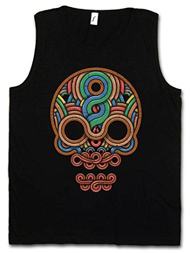 INCA Skull Vest Tank TOP - Inka Mayans Maya Aztecs American Indians Sugar Candy Skull Mexican Tattoo Flash ()