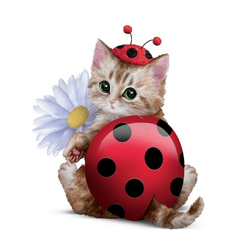 Artist Kayomi Harai Cat Ladybug: Cute As A Bug Cat Figurine by The Hamilton - Bug Cat Eyed
