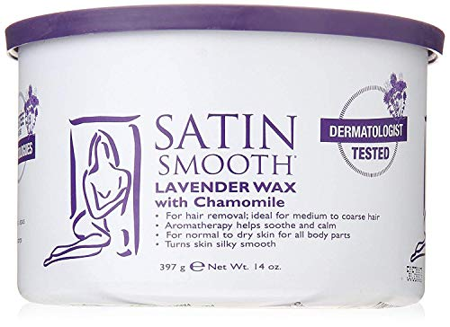 (SATIN SMOOTH Lavender Wax with Chamomile, 14 oz)