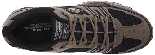 Skechers Sport ¨ Afterburn Grà ve Memory Foam Lace Sneaker up Pebble/Black