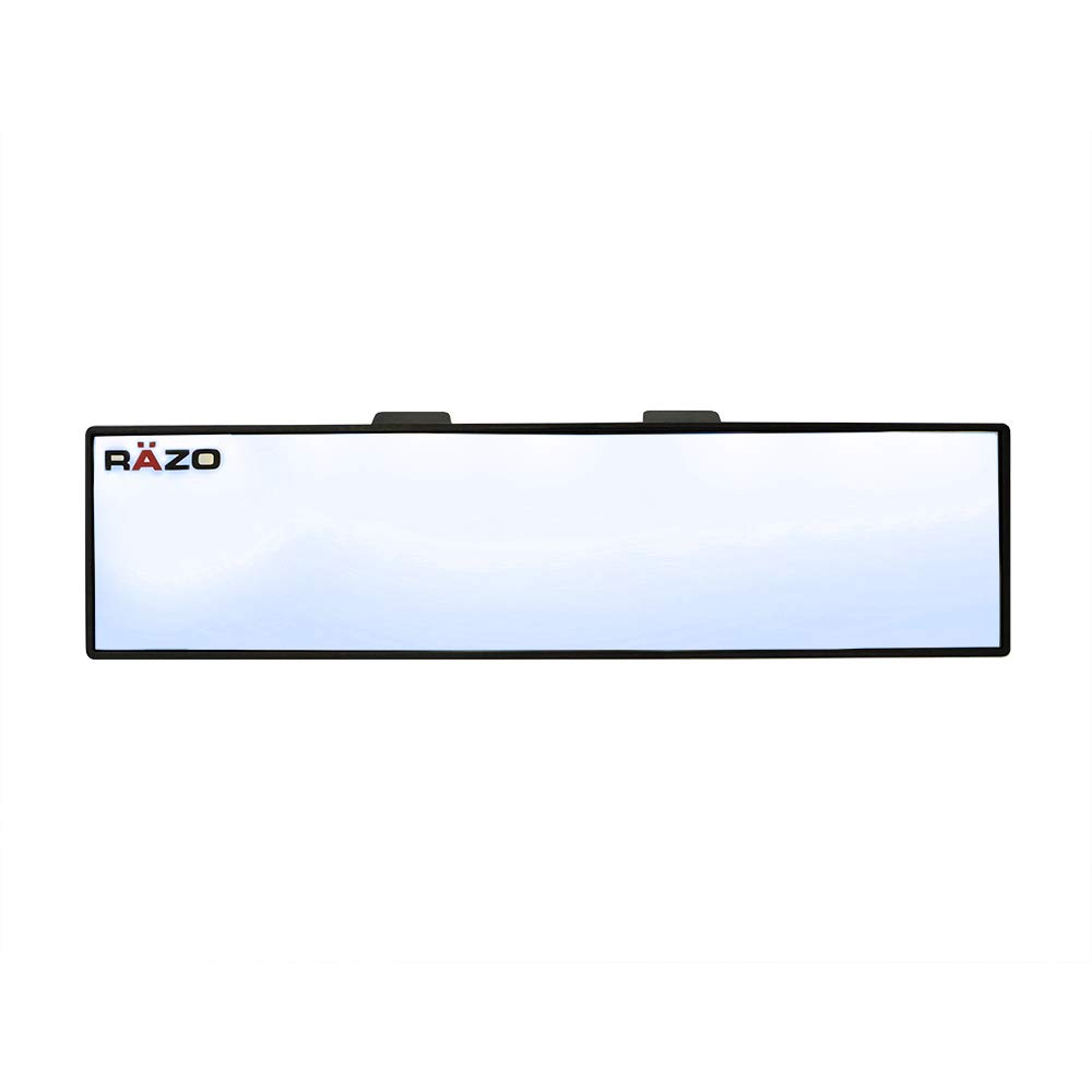 """Car Mate Razo RG23 11.8"""" Black Frame Wide Angle Convex Rear View Mirror - Pack of 1"""