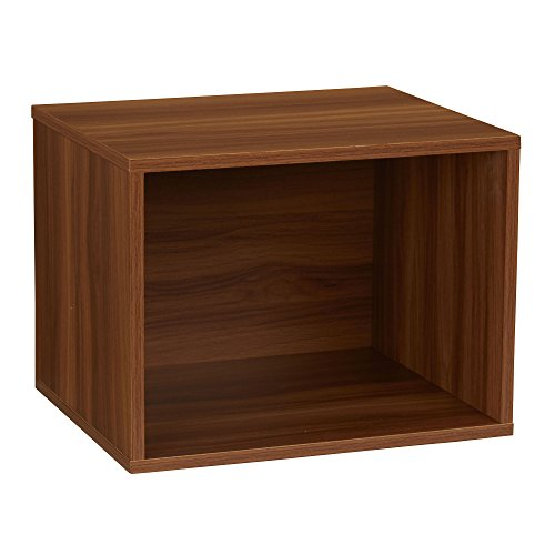 Household Essentials 8007-1 Modular Single Cube Storage Cubby | Honey Maple