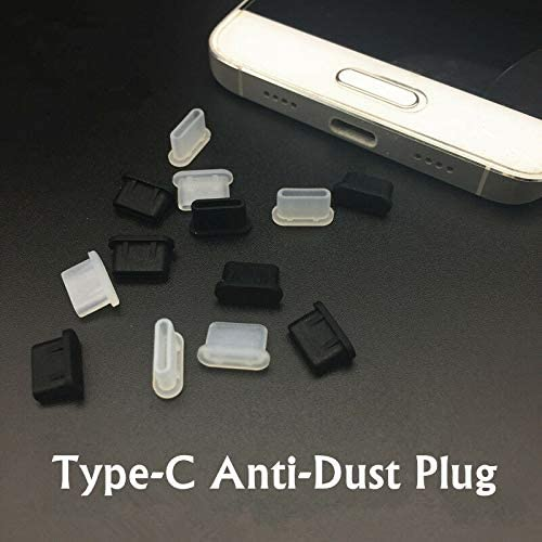 10 Pairs Black Scicalife USB Type C Female and Male Plugs Anti Dust Protective Cover Stopper Protector Plugs for Any Type C Port on Smartphone or Laptop