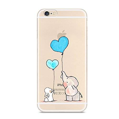 Iphone 6 6S Case Cute Novelty Animal Pattern On Soft Tpu Silicone Protective Skin Ultra Slim   Clear With Unique Design Gift Bumper Back Cover For 6 6S Elephant   Bunny