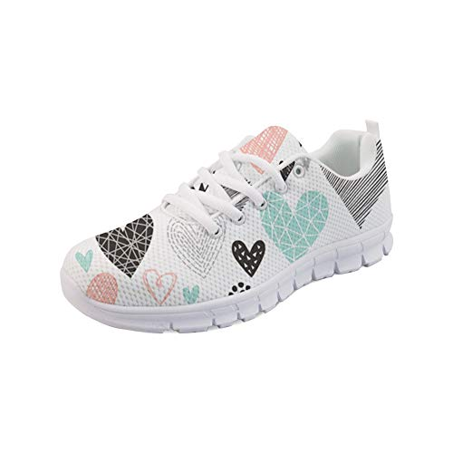 WHEREISART Cool Print on Womens Running Shoes Casual Lightweight Athletic Sneakers Perfect for Adults and Youngsters