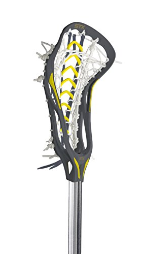 STX Lacrosse Women's CRUX 500 Complete Stick Graphite Gray Head with Yellow Overmold and Launch...