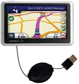 USB Power Port Ready retractable USB charge USB cable wired specifically for the Garmin Nuvi 1340 and uses TipExchange