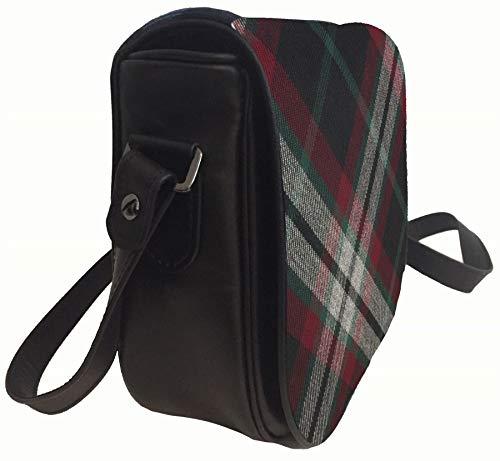 with Leather Pocket Handbag with Inside Lindsay Back Tartan Bag Shoulder and qxTxt1